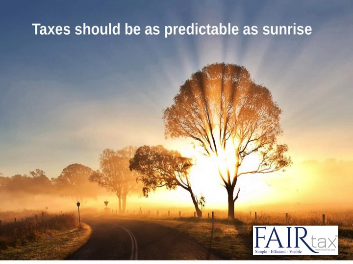 """Have our taxes been stable & predictable? NO! @POTUS we need true #TaxReform not just more """"adjustments"""". #FAIRtax is the full fix for stability.  http:// FAIRtax.org/faq    <br>http://pic.twitter.com/QnDywnZuiN"""