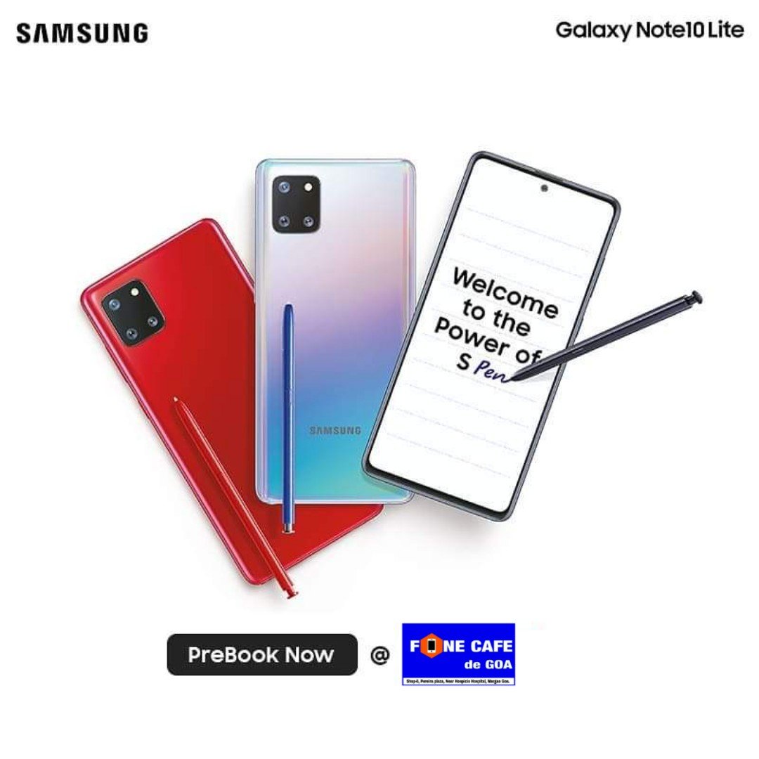 Do more with AR Doodle, Screen-off Memo, Screen Write and much more with the brand new Samsung Note10 Lite smartly Pre-Book yours at #FoneCafeDeGoa Now  Helpline : 9370118880  #SamsungNote10lite #Smartphones #Gadgets #Spen #Livefocus #InfinityDisplay #Fingerprintsensorpic.twitter.com/zl9z9bipX6