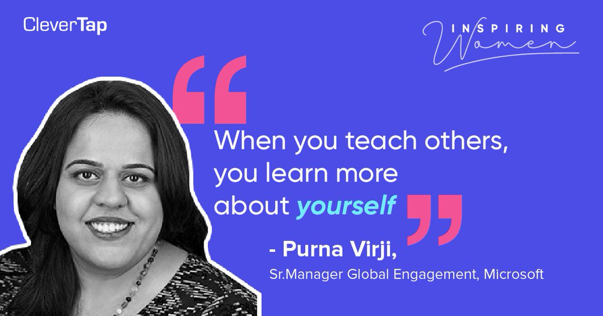 How does one manage to keep their skillset relevant in this dynamic digital scenario?  Heres purnavirji, Sr.Manager Global Engagement at Microsoft, solving this exact dilemma.  Watch the full video here:   http://bit.ly/2G5GOfV   #InspiringWomen  #Market…