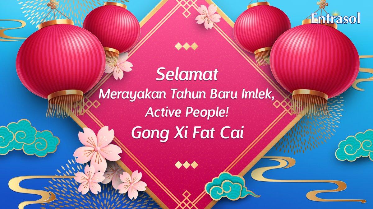 Selamat merayakan Tahun Baru Imlek, Active People!Semoga kita mendapatkan banyak keberuntungan, kesehatan, dan umur panjang. #Entrasol #GongXiFatCai #NutrisiPalingNgerti #Imlek