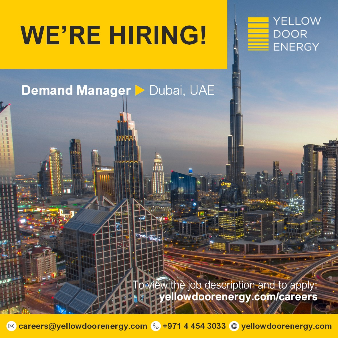 WE'RE #HIRING:  Demand Manager in #Dubai, #UAE   If you're passionate about bringing #energyefficiency solutions to businesses, then this could be the role for you!  http://bit.ly/YDECareers  #energyjobs #greenjobs #demandmanagement #sdgs #engineeringjobs #energyengineerspic.twitter.com/OMD9HydBZS