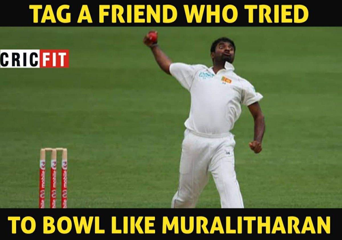 Tag a friend who bowls like Murli  #tagafriend #cricket #murlitharan<br>http://pic.twitter.com/VYqqWEX8at