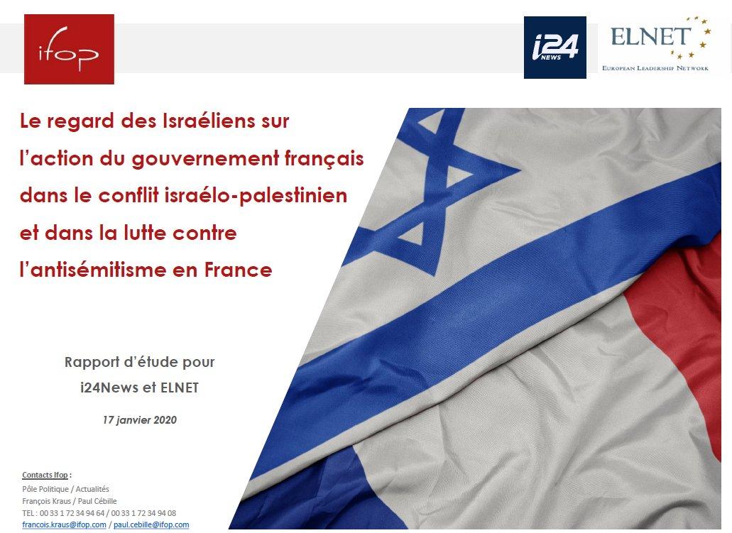 A quelques heures du discours d'@EmmanuelMacron sur l'#antisémitisme, et dans le cadre de sa visite officielle en #Israel, l'@IfopOpinion s'est penché dans une étude inédite pour @i24NEWS_FR et @ElnetFr sur le regard des Israéliens sur la situation des juifs en France pic.twitter.com/OMxBd1kuuq