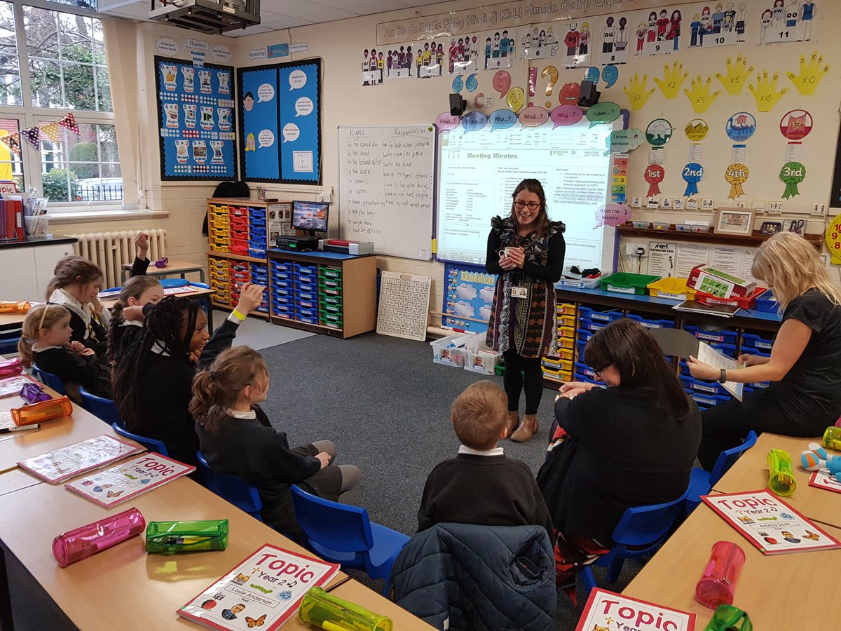 @OfficialTfGM Elizabeth Saul visited @RomileyPS Eco-Committee, discussing ways to travel in a more eco-friendly manner. She will be back to work with Year 2 and plan a whole school assembly about sustainable travel and climate change. Thank you Elizabeth 👏👍🛴🚲