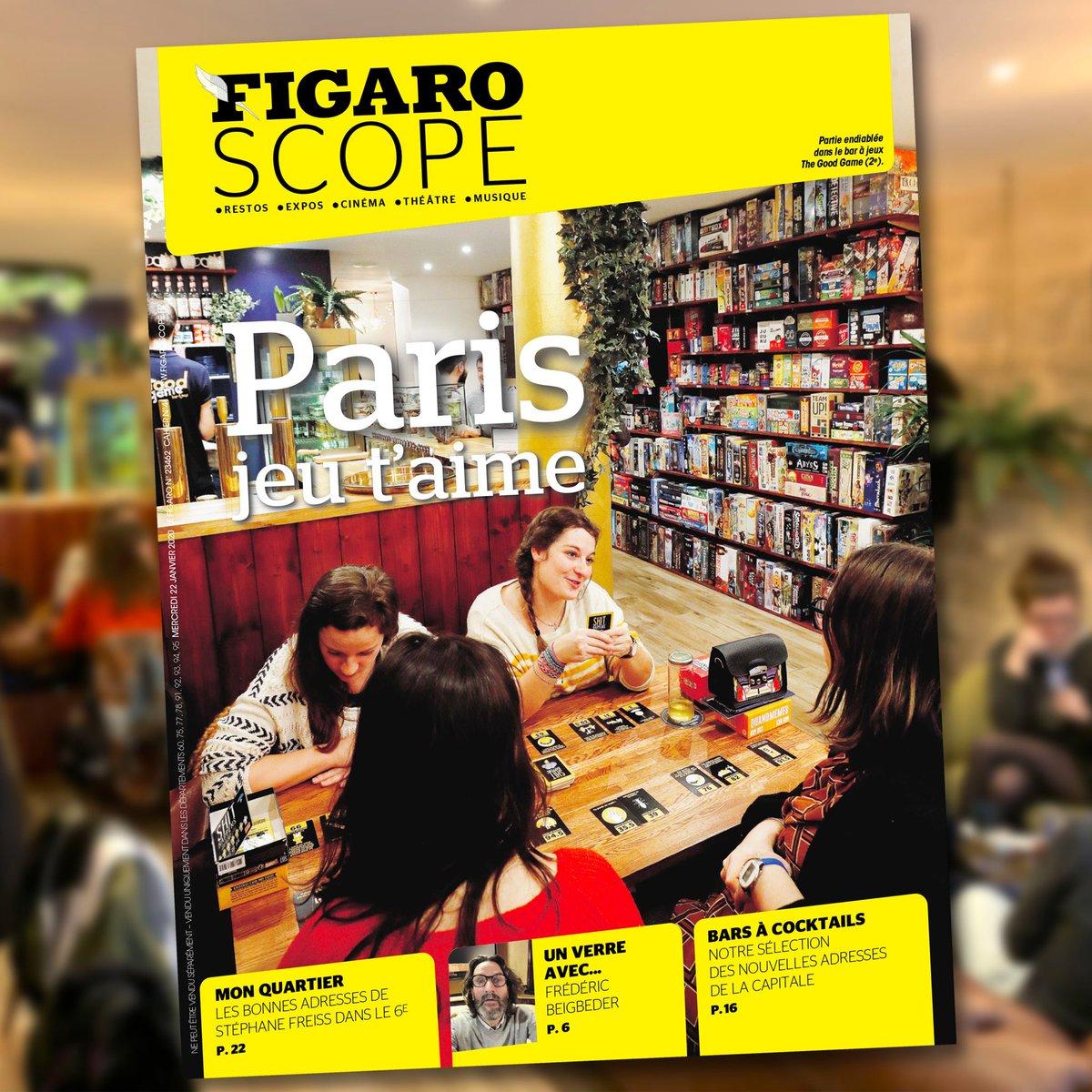 """Retrouvez The Good Game bar à jeux, en UNE du @Figaroscope aujourd'hui, au coeur d'un grand dossier spécial """"jeux de société"""" ♟!  #Figaro #Figaroscope #GoodGameParis #Bar #JeuxDeSociete #J2S #BoardGames #BaraJeux #timeoutparis #sortiraparis #Parispic.twitter.com/wQC1LcDoGG"""