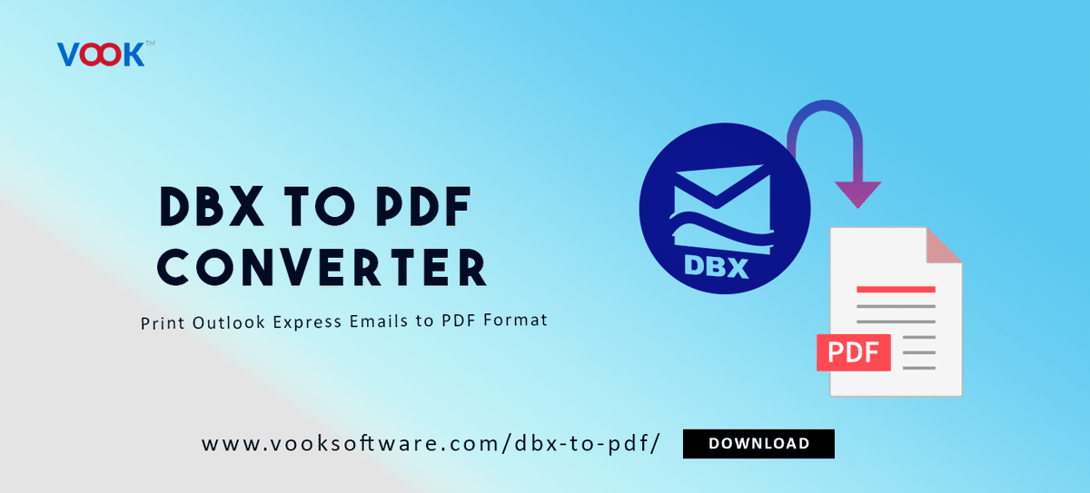 Print Outlook Express emails to PDF format with DBX to PDF Converter