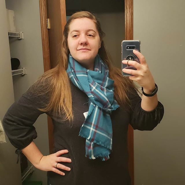 Working on my style. I have several blanket scarves but haven't worn them yet. So I tried out one last week. I think it looks pretty cute! . . . . . #fashion #blanketscarf #fashionblogger #ootd #scarf #styleblogger <br>http://pic.twitter.com/OklFwa8Uti