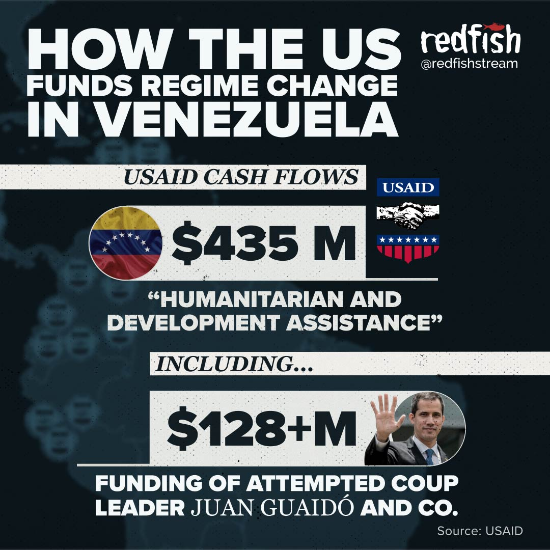 A reminder that the US has been pouring millions into fuelling regime change in Venezuela.