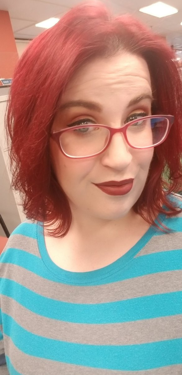Got a good nights sleep, feeling good so I nailed the look. Love this lipstick.   Night of editing ahead of me and, debating filming a bonus video, something different. Well see.   #colourpop #twitch #streamer #gamer #warcraft #youtuber #youtube #smallstreamersconnect