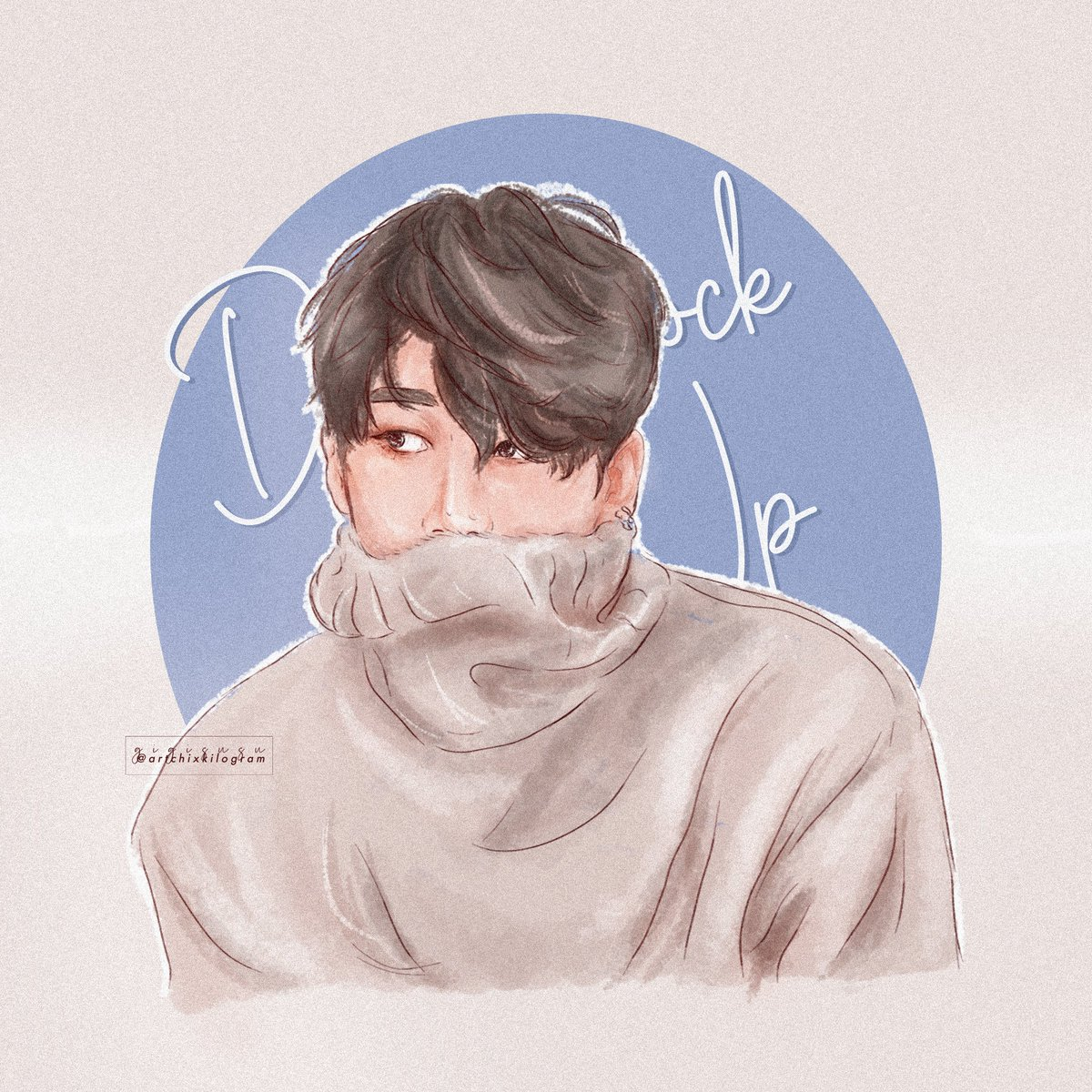 Oremanijong, wooya.  #한승우 #HANSEUNGWOO #VICTON #seungwoofanart #fanart #illustration #blue #art #artchillustration