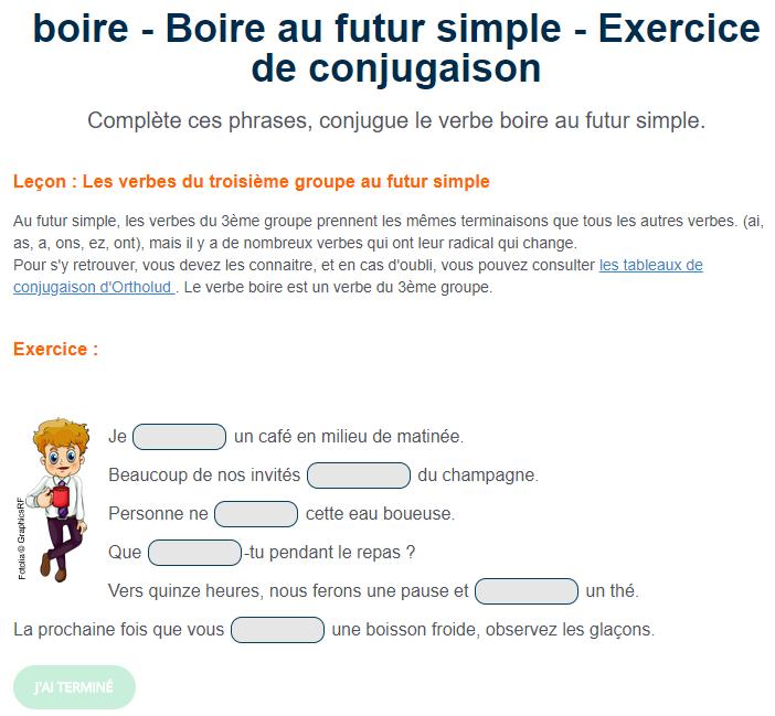 Ortholud Com Sur Twitter Exercice De Conjugaison Boire Au Futur Simple Complete Ces Phrases Conjugue Le Verbe Boire Au Futur Simple Https T Co 2lbcyv6gch Https T Co Sssilfn5vi