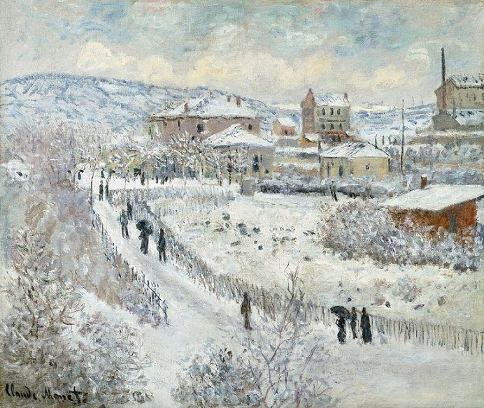 Thank you Good night  Claude Monet - View of Argenteuil - Snow, 1874-75 <br>http://pic.twitter.com/7IBtfdLlck