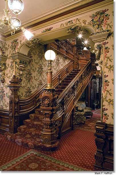 Grand Staircase of the Alexander Mitchell Mansion in Milwaukee, WI, photos by Mark Heffron <br>http://pic.twitter.com/6nB4uQ26T4