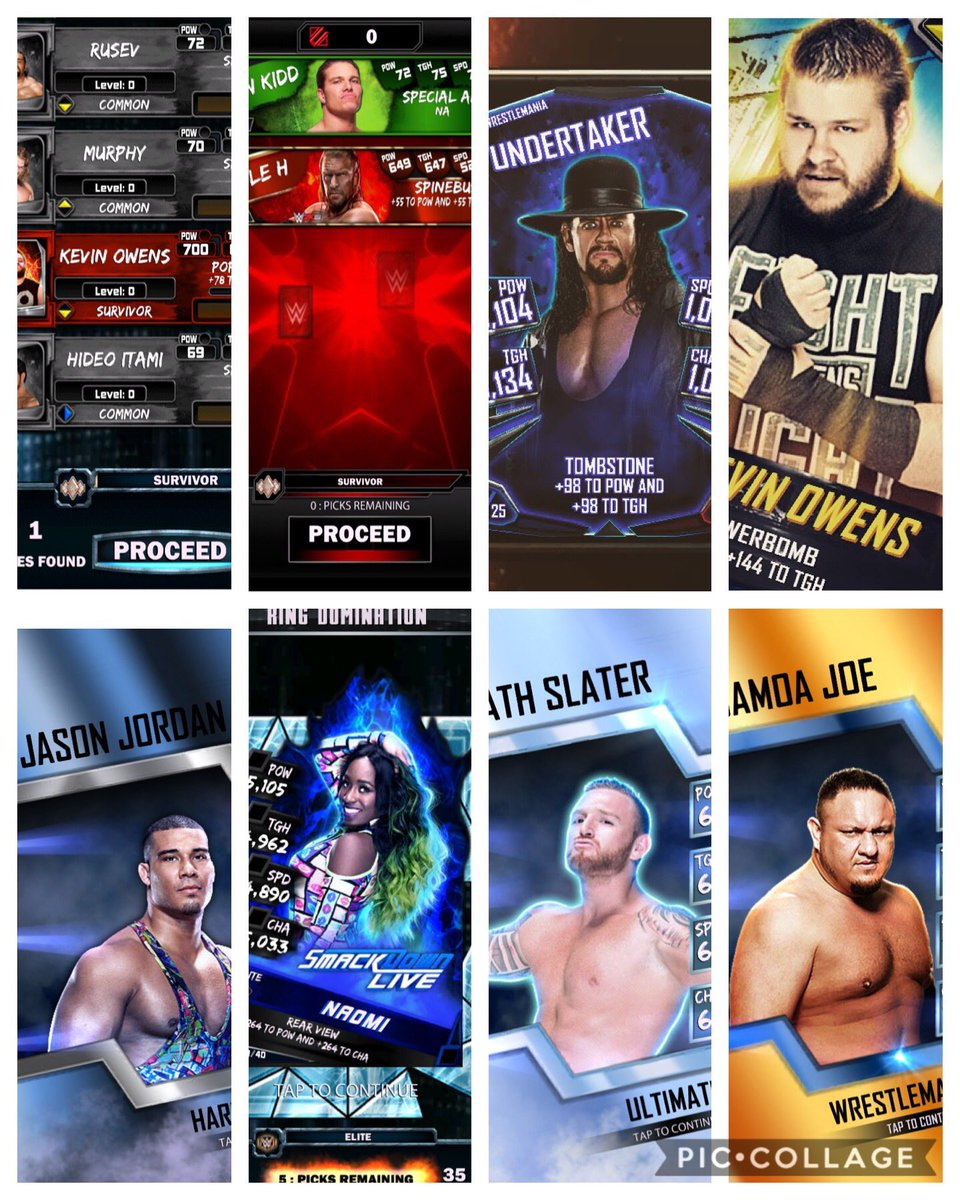 For every new tier I got to share my freebie collage. Hope people get good freebies, enjoy maintenance 😆#WWESuperCard