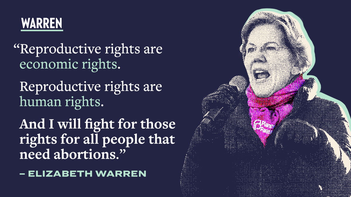 Reproductive rights are human rights. Reproductive rights are economic rights. And I will fight to protect those rights.