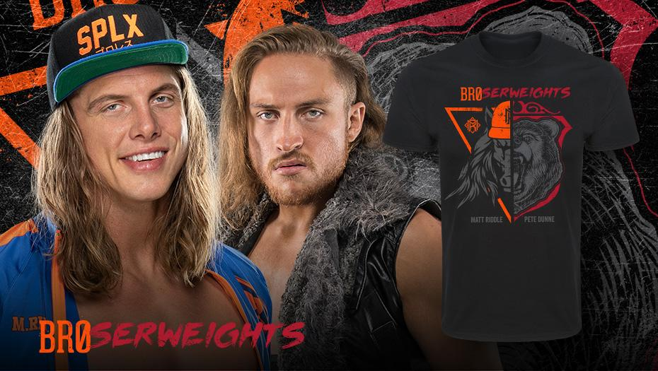 Check out the all new @SuperKingofBros & @PeteDunneYxB BROserweights tee only at #WWEShop. #WWE