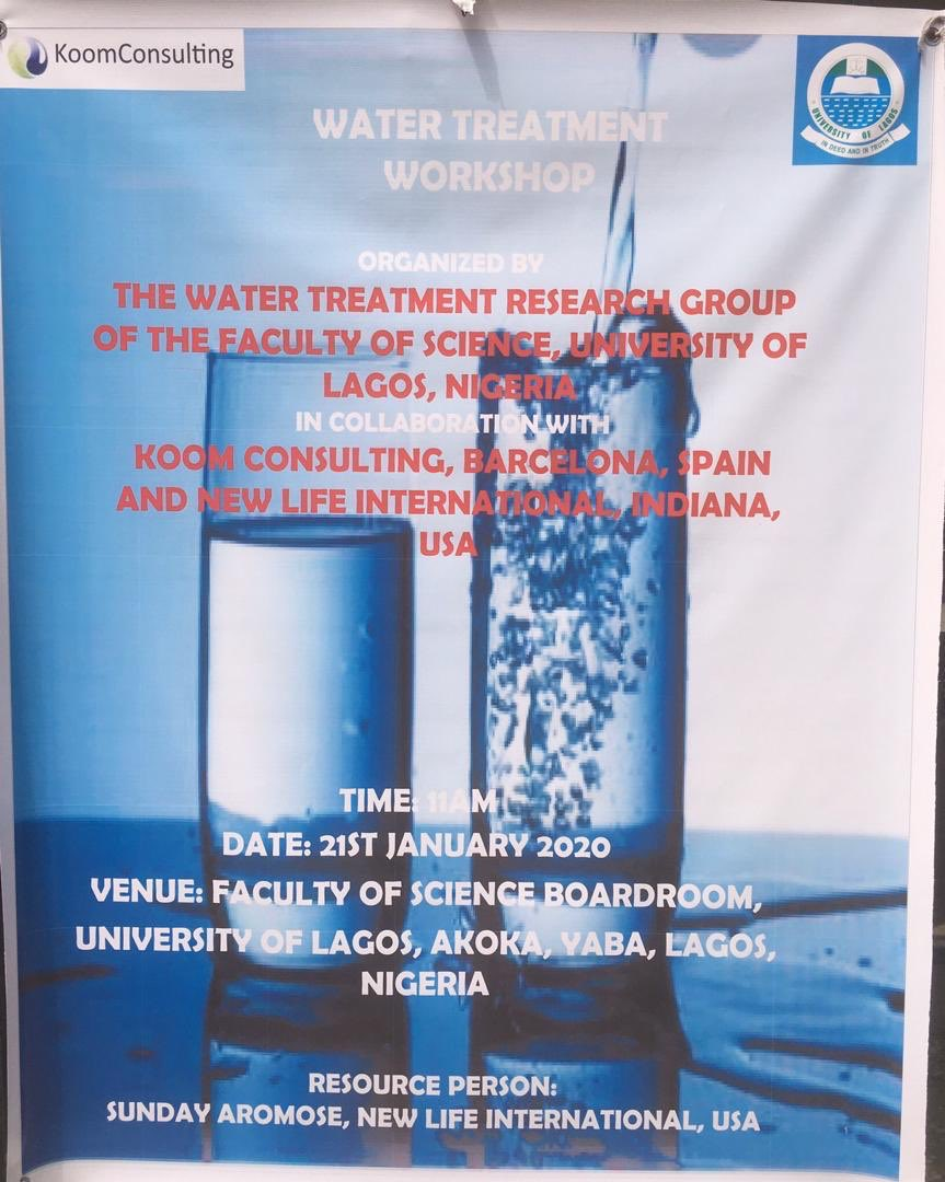 #EveryDropCounts #LivingWater #safewater   Greetings from U.  of Lagos. In conjunction with Koom Consulting of Spain, our Pastor Sunday Aromose has hosted a training /orientation program for students /faculty of the Science Dept. Thanks to all involved.  http:// waterfortheworld.org     <br>http://pic.twitter.com/p2FNOYHAj5