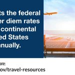 #WhatWeDoWednesday - GSA sets the federal travel per diem rates for the continental United States annually. Look up per diem rates and find more resources for planning travel: https://t.co/jKurziJiS5