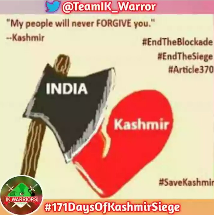Peace, Security And Respect for humanity could not be restored in the region until resolution of the Kashmir issue.  #171DaysOfKashmirSiege <br>http://pic.twitter.com/1SVJlGJ9PN