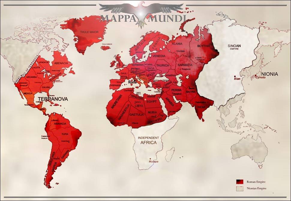 英国の女性作家ソフィア・マクドゥーガルSophia McDougallのRomanitasという歴史改変SFがあるがマジでスゴい。ローマ帝国が滅亡しなかった世界の現代でローマ帝国と大日本帝国が世界の覇権を争う設定らしい。
