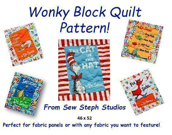 Check out this Super Easy pattern to create your own #Wonky Block  #Quilt.  This #QuiltPattern works for any #FabricPanel or #SoftBook panel.  Make your own #ModernQuilt #Fun #easytomake #Sewing #Quilting