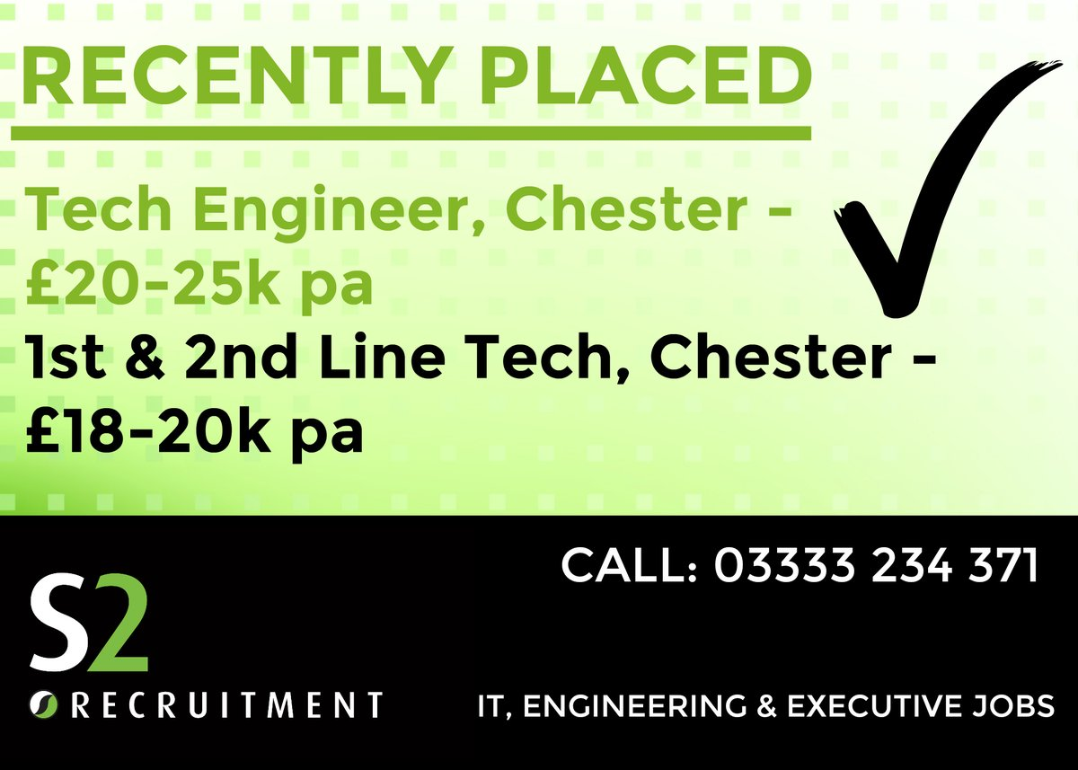 HAPPY CANDIDATES WE'VE RECENTLY PLACED!   If we can help you secure the IT, Engineering or Executive role of your dreams,  us: 03333 234 371  #WisdomWednesday #ITJobs #EngineeringJobs #ExecutiveJobspic.twitter.com/3jZ33Jnhro