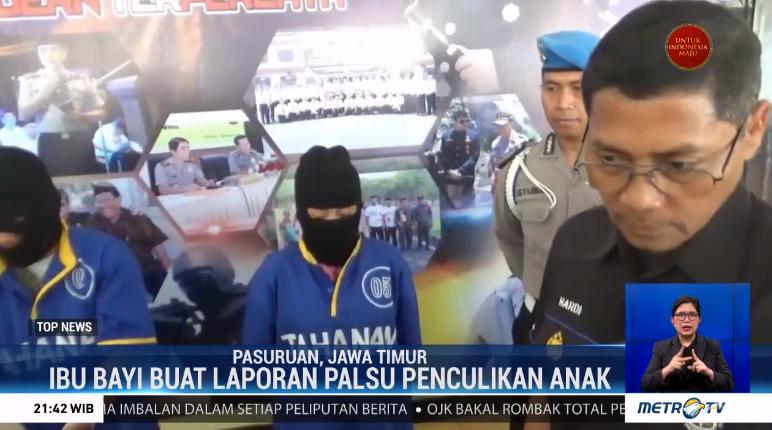 #TopNewsMetroTV Seorang Ibu di Pasuruan, Jawa Timur tega gadaikan bayi kandung yang berusia 2 bulan hanya untuk mendapatkan pinjaman uang. Kasus tersebut terungkap setelah sang Ibu membuat laporan palsu terkait anaknya yang hilang diculik orang tak dikenal.@Metro_TV