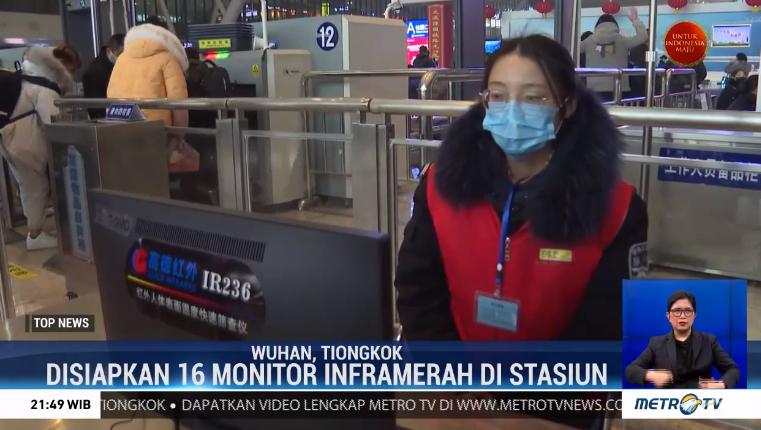 #TopNewsMetroTV Kota Wuhan, Tiongkok terus meningkatkan kewaspadaan terhadap penyebaran virus korona. Pemeriksaan keluar &masuk Kota Wuhan diperketat, termometer inframerah dipasang di stasiun kereta api guna monitor suhu tubuh para penumpang yang datang memasuki Kota.@Metro_TV