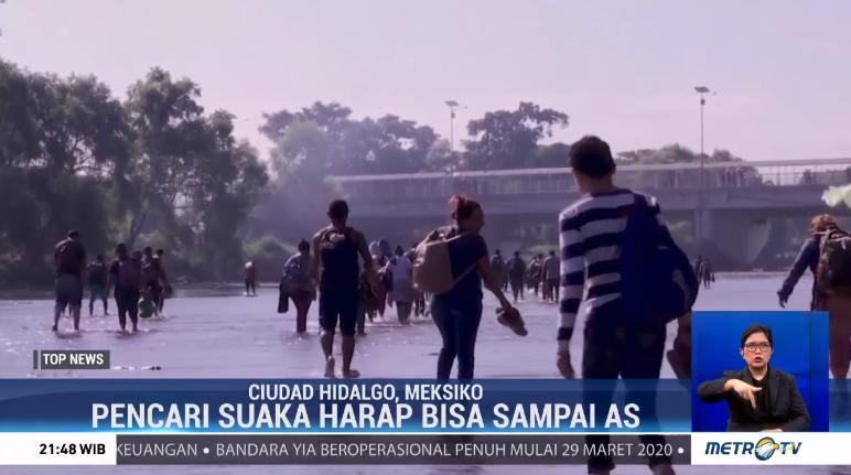 #TopNewsMetroTV Ratusan migran yang berasal dari Amerika Tengah berjalan kaki melewati Meksiko dan berharap dapat mencapai wilayah AS. Namun harapan tersebut pupus karena Petugas langsung mengamankan mereka dan mengembalikan migran ke negara asal.@Metro_TV