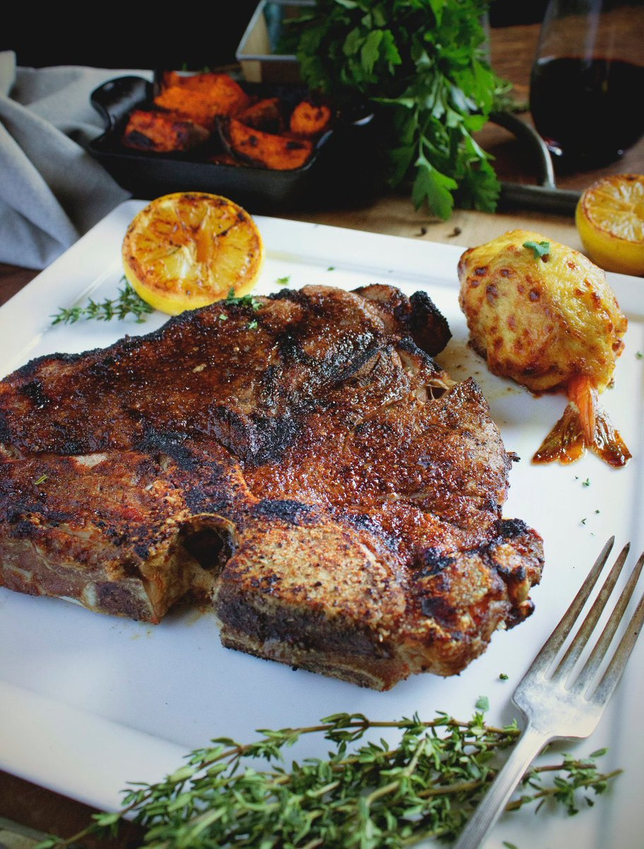 All of our steaks are 100% plant based! The cows were eating plants before being served.