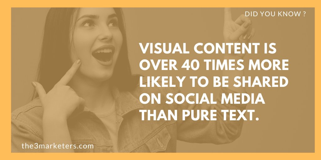 Consider incorporating images into your #socialmedia posts. Make sure to stay in line with brand style guides while avoiding using stock images.#onlinemarketingtips #onlinemarketing #digitalmarketing #internetmarketing #socialmediatips #growyourbusiness #calgary #the3marketerspic.twitter.com/TAyC9qzE90