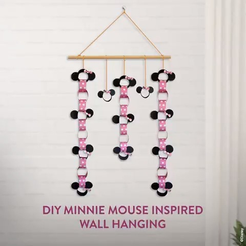 For the fashion icon who never fails at stealing our hearts! Celebrating this #PolkaDotsDay with a wall hanging inspired the prettiest mouse herself. #MinnieMouse 💕 Things you will need: Scissors Glue Pink, black & pink polka-dotted paper Ready? Lets get started!