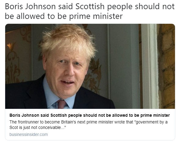"""Boris hates division in his precious union: """"What part of You lost No means No once in a generation ungrateful grievance fuelled subsidy junkies living off British subsidy, we love you lead don't leave equal partners don't you understand Jocks!?"""" #PMQspic.twitter.com/b9C0Tp2RYL"""