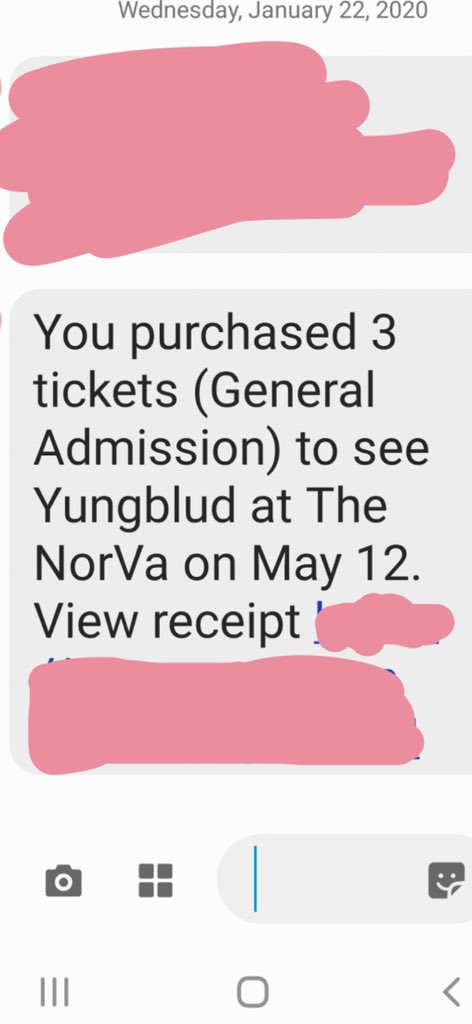 this is from my dads phone but I GOT THEM IM SO HAPPY I LOVE YOU  @yungblud SEE YOU MAY 12pic.twitter.com/8zb1cB1hls