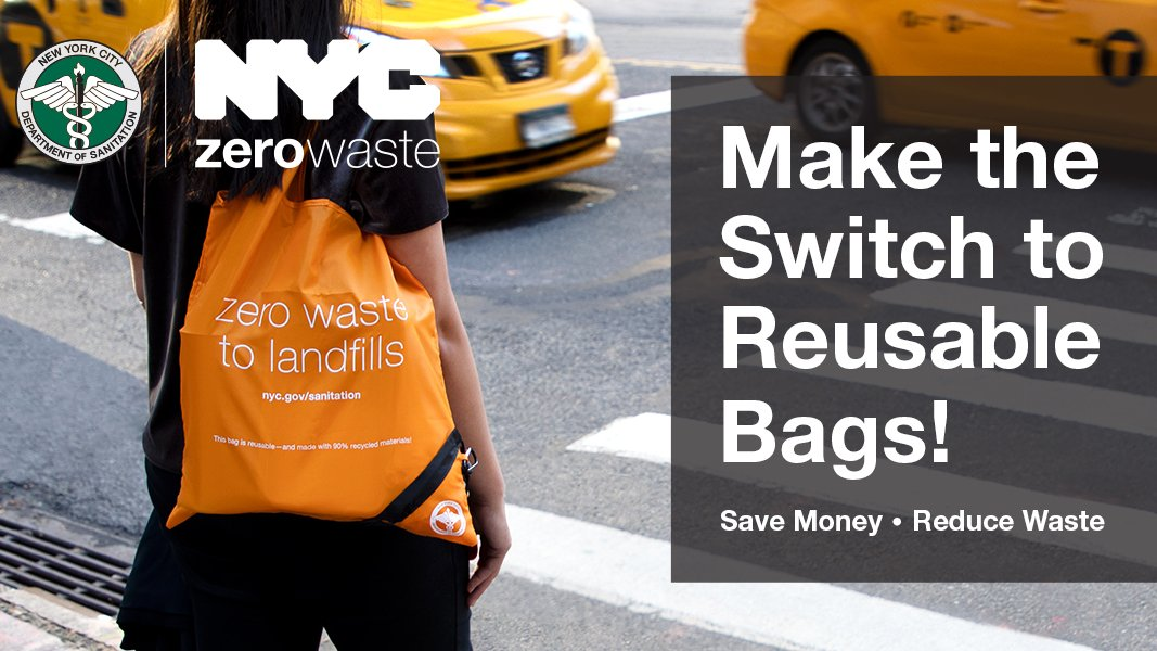 Starting March 1, 2020, single-use plastic bags are banned, w/limited exceptions, in NY State. In addition, businesses will begin collecting a five-cent fee on paper carryout bags in NYC.This fee will not apply to any customers using SNAP or WIC: