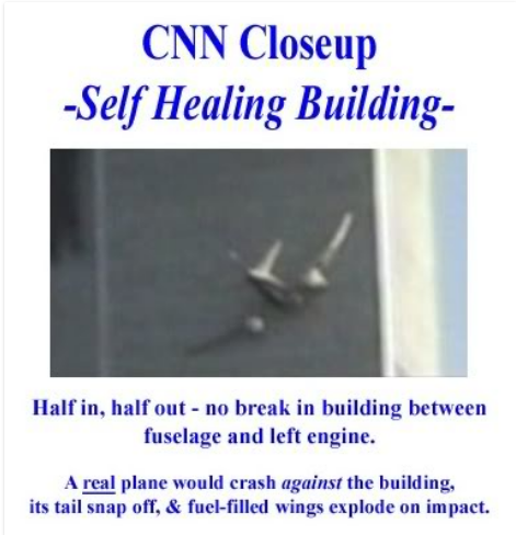 The planes were crude CGI inserted into recorded video.  No one saw a plane in the sky.  #9/11 #sept11 #wtc #neverforget<br>http://pic.twitter.com/kn52iODAtV