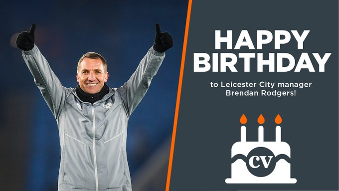 Happy birthday to manager Brendan Rodgers!