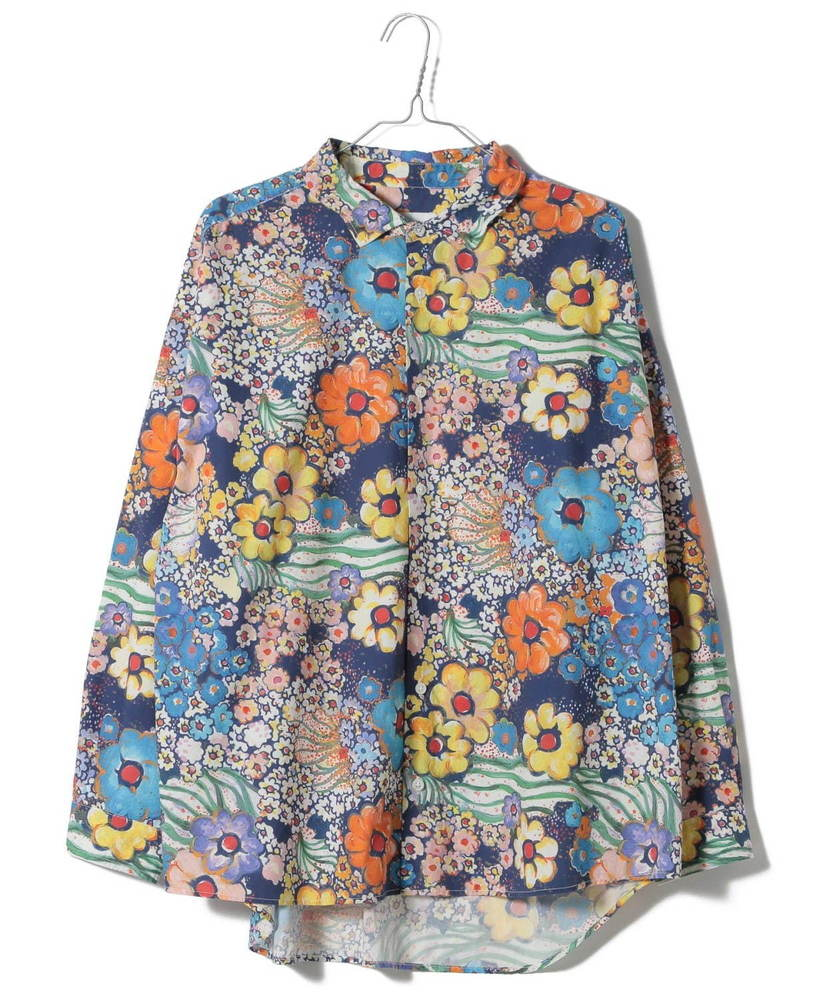 ニコアンド×ツモリチサトのウィメンズ&メンズシャツ、猫やカラフルな花などアーカイブからデザイン -
