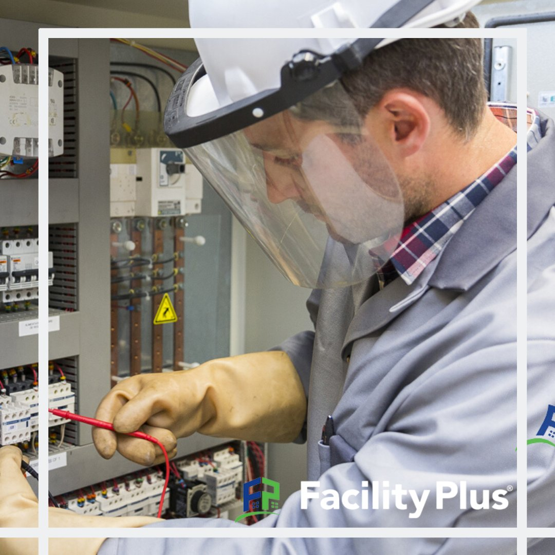 We offer industry-leading commercial electrical services. Our services include code corrections, commercial upgrades, electrical systems repair and replacement, parking lot lighting and bulb replacement, generators...  and many more! Learn more here: https://www.facilityplus.com/electrician/ pic.twitter.com/1IxlzVOlVC