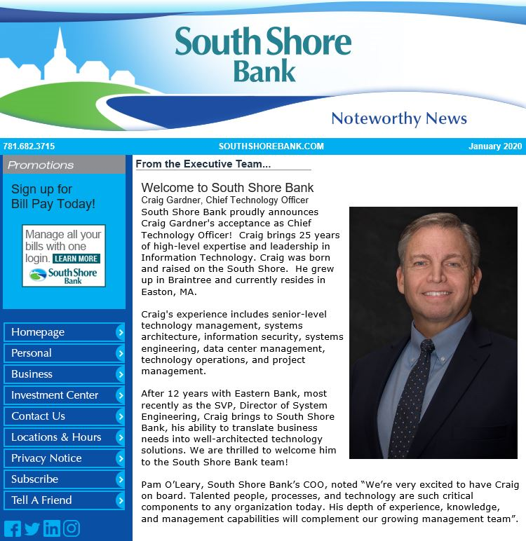 Have you signed up for our newsletter? Stay up-to-date on the latest news, product and service updates, and more. http://www.southshorebank.com/Newsletter/ pic.twitter.com/mZiEiwveOk