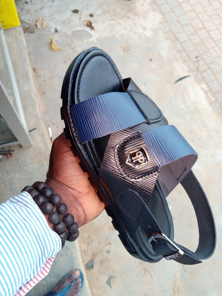 Black&Blue Leather Sandal for Men  . Order yours today . Your Beauty Is What We Cherished . Pls Retweet .... My Work ... My Pride <br>http://pic.twitter.com/g304iQS4Yf