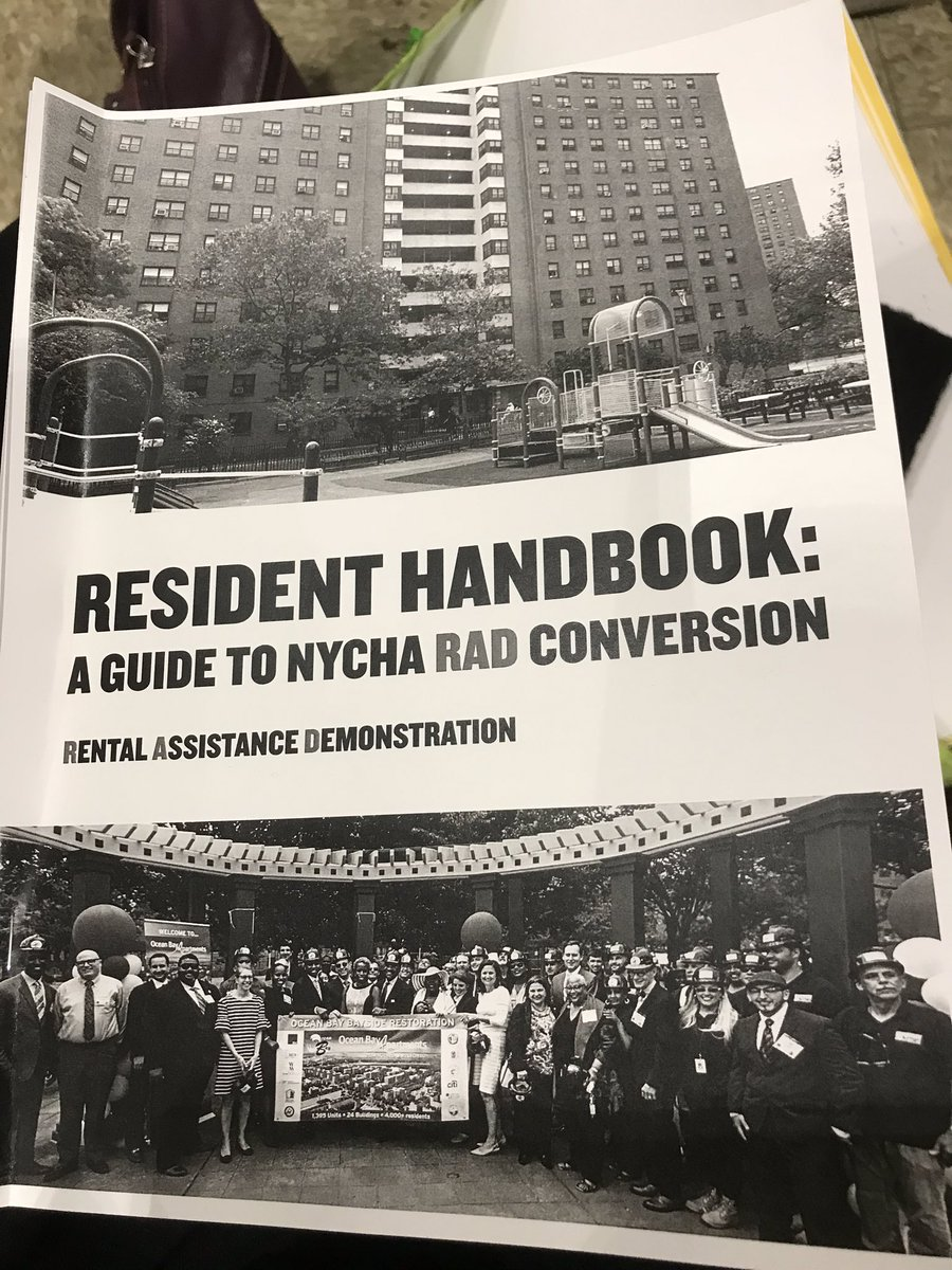 Hi @AdrieneHolder, wish you & @LegalAidNYC would've been at Warren St @Nycha Tenants Meeting last night. Tenants very worried: forced to sign new RAD lease in 5 days, expected to accept apts 'AS IS' w/no guarantee that RAD will truly repair #Nycha to protect 'investor investmt.'pic.twitter.com/3IJN7V3B2J