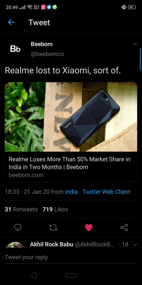 I think you are not providing update of realme UI to older devices that's why everyone is shifting towards those brand who at least provide proper UI updates pic.twitter.com/nhkSLv387Q