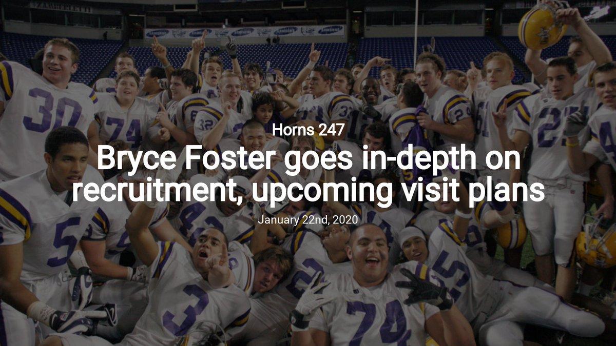 Bryce Foster goes in-depth on recruitment, upcoming visit plans — Horns 247 #Hookem #Longhorns  http:// dsh.news/FXpvNFTHn4wmPI KwFSMG  … <br>http://pic.twitter.com/gN2iMDlcBS