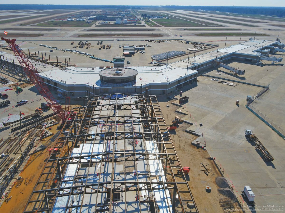 Things are moving right along on the new B concourse! So exciting to see it all start coming together. 💙  More on Modernization at MEM:  http://bit.ly/2WfONMV