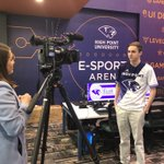 Thank you, @MHJreports with @SpecNewsTriad for coming out to interview Dylan Thompson, general manager of #HPU's Esports Club Team! 🎥 👨💻