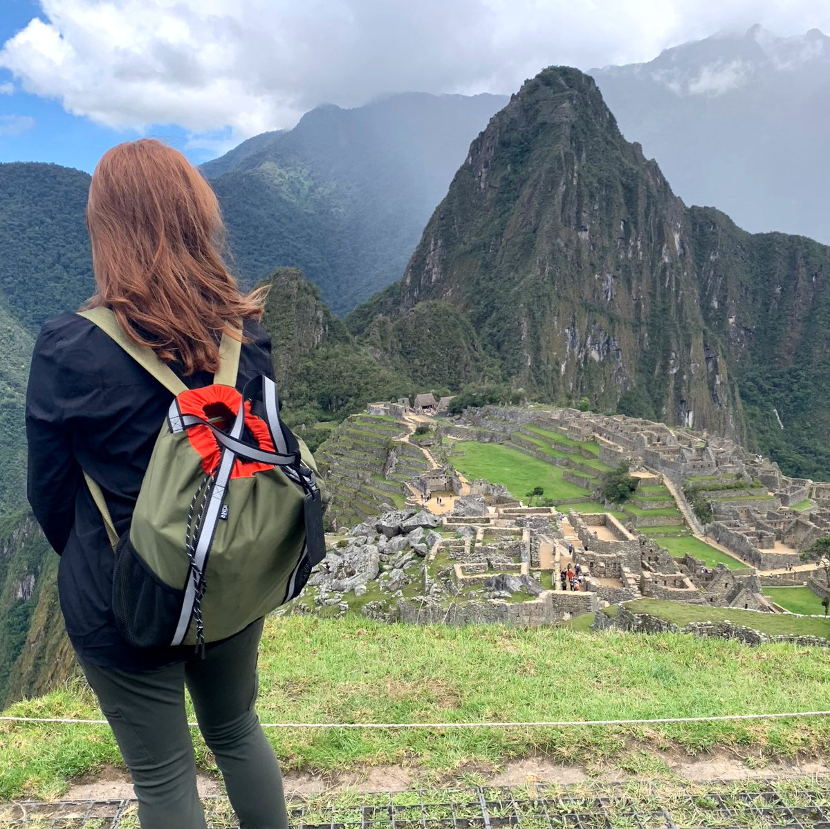 Lets get outside more. The view of mother nature is simply wonderful. @katiedoch in Machu Picchu.