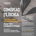 Image for the Tweet beginning: Comórtas Filíochta Cultúrlann McAdam Ó
