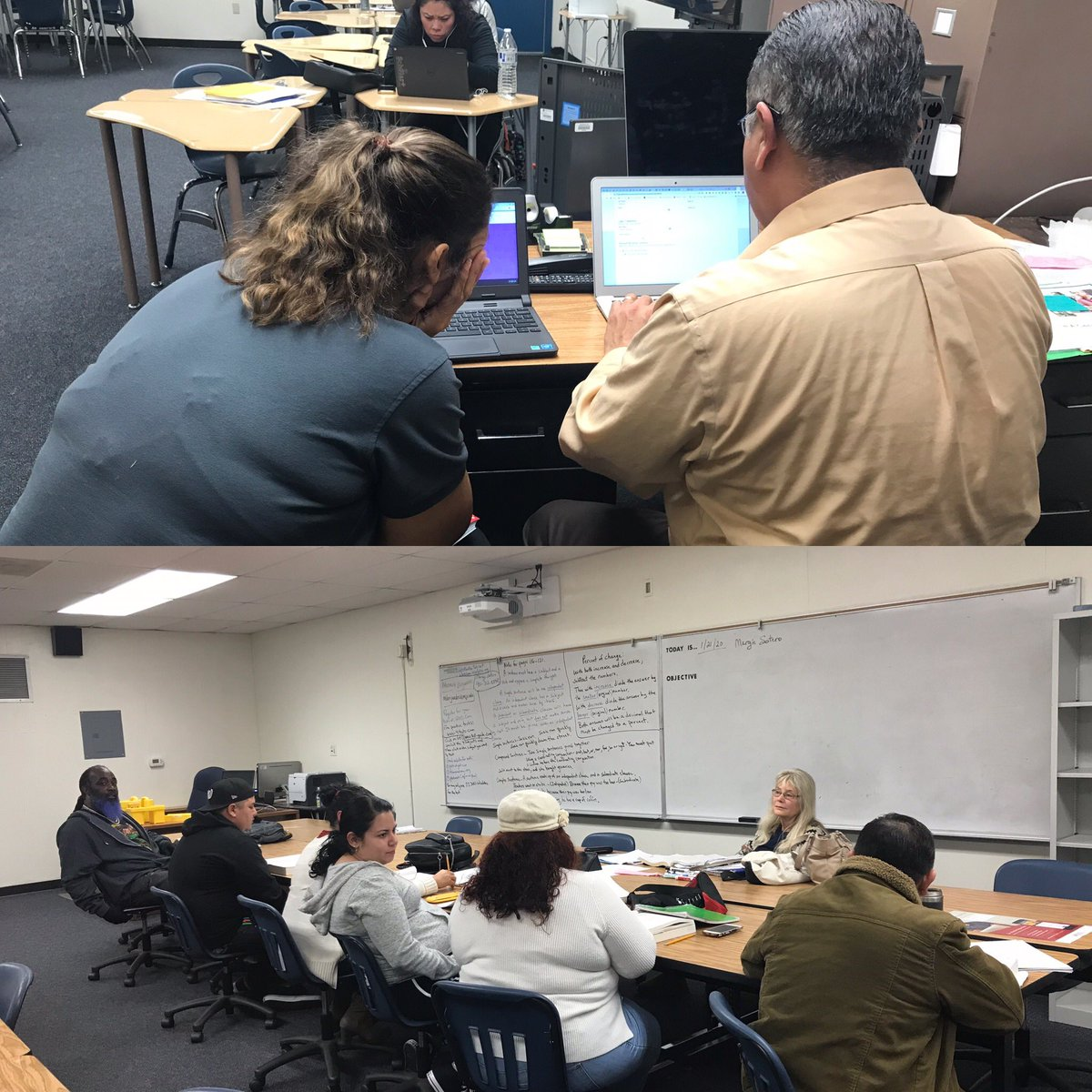 I'm so fortunate to have such amazing caring staff who go above and beyond to assist our adult learners. Thank you Mr. Sergio Salcedo and Marjorie Sotero for you passion and dedication to our students, school, and community.