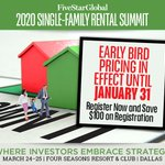 Not registered for the Single-Family Rental Summit? You're in luck, early-bird pricing is still available. 🦜🦜Register your team, today: https://t.co/IKKK9uLTBy